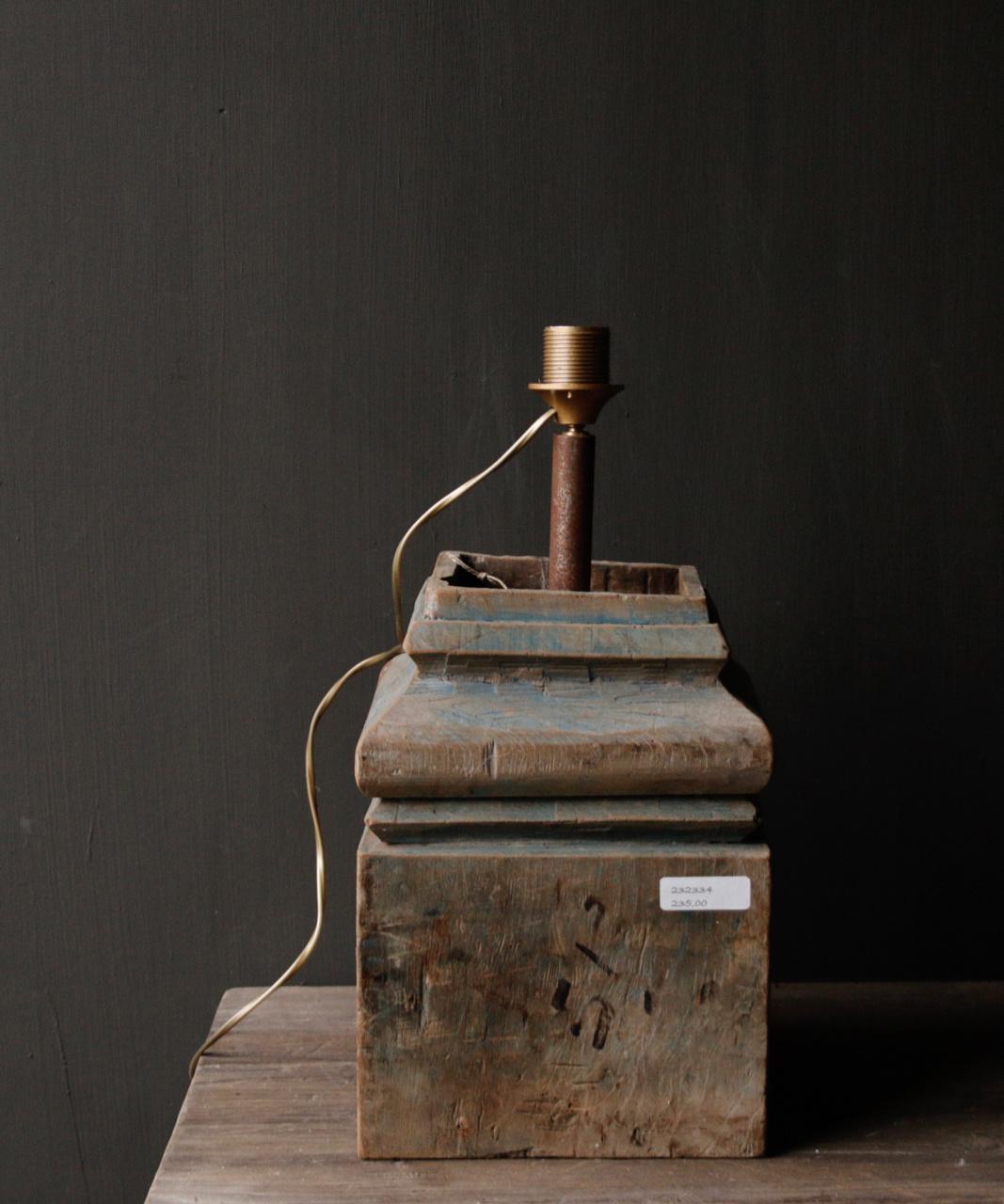 Houten Baluster lamp-4