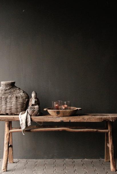 Stoere Robuuste  Muurtafel/Sidetable van oud hout