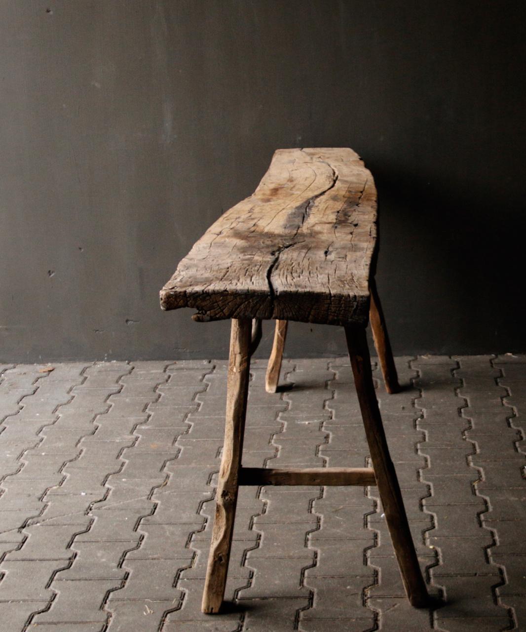 Muurtafel/Sidetable van oud hout-3