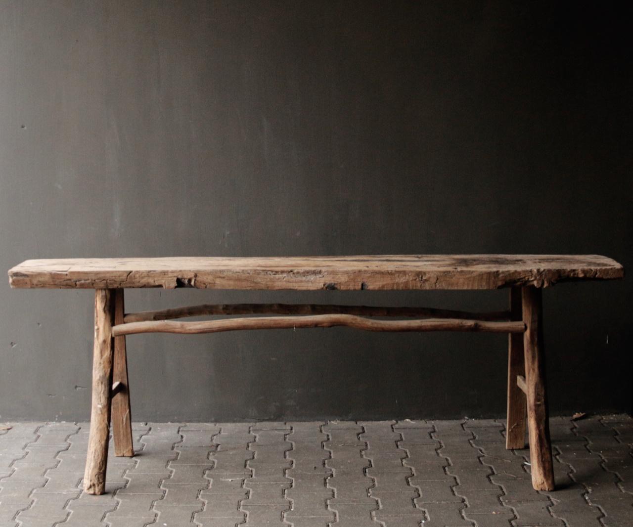 Muurtafel/Sidetable van oud hout-4