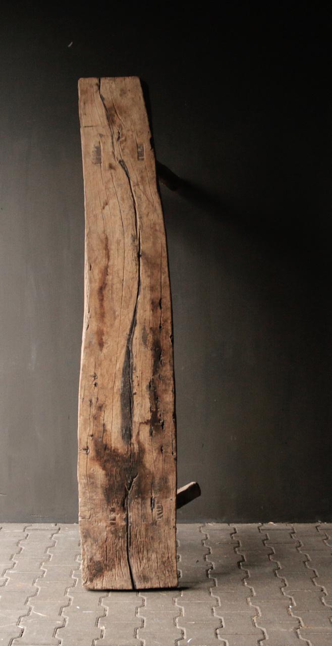 Muurtafel/Sidetable van oud hout-5