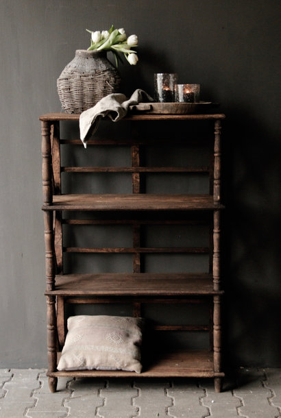 Tough wooden rack with three shelves