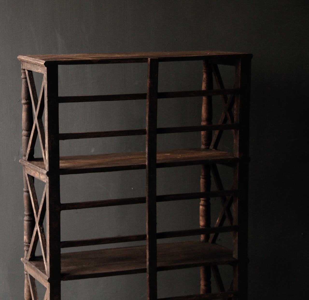 Tough wooden rack with three shelves-3