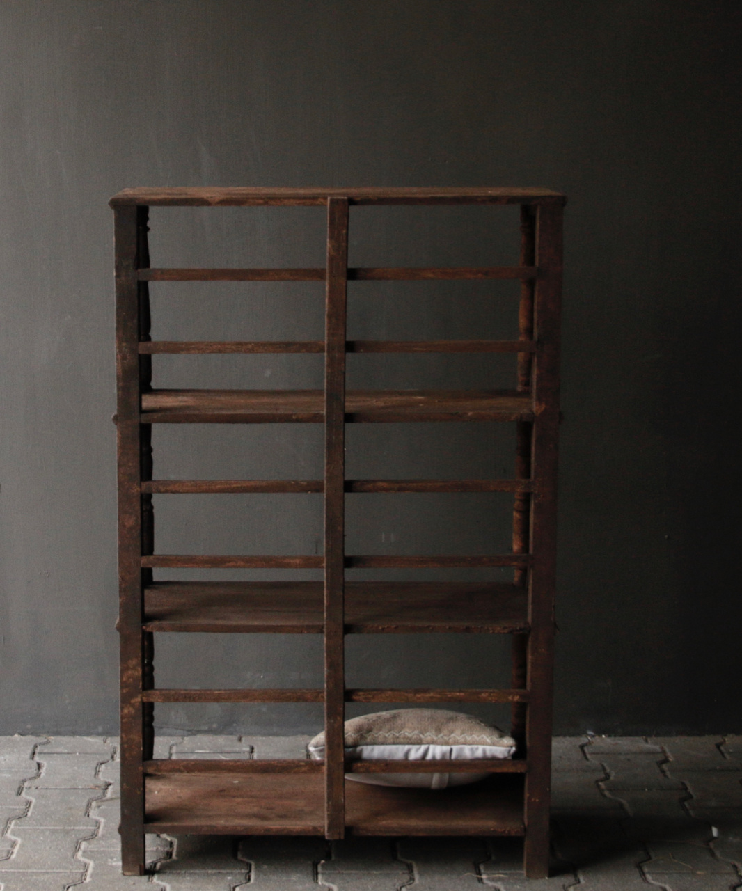 Tough wooden rack with three shelves-6