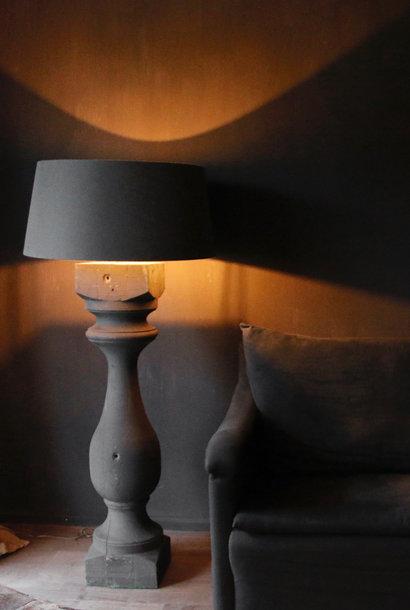 Grote houten Baluster lamp