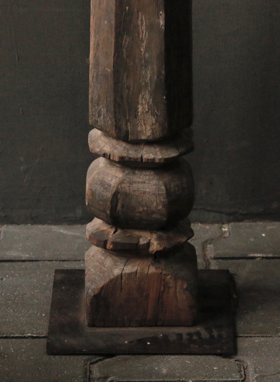 Beautiful Old Wooden Baluster floor lamp base-5