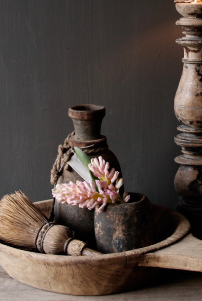 Old wooden Nepalese Jar with plug