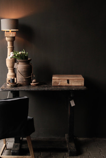 Old Antique Wabi Sabi Holz verwittert Beistelltisch / Wandtisch