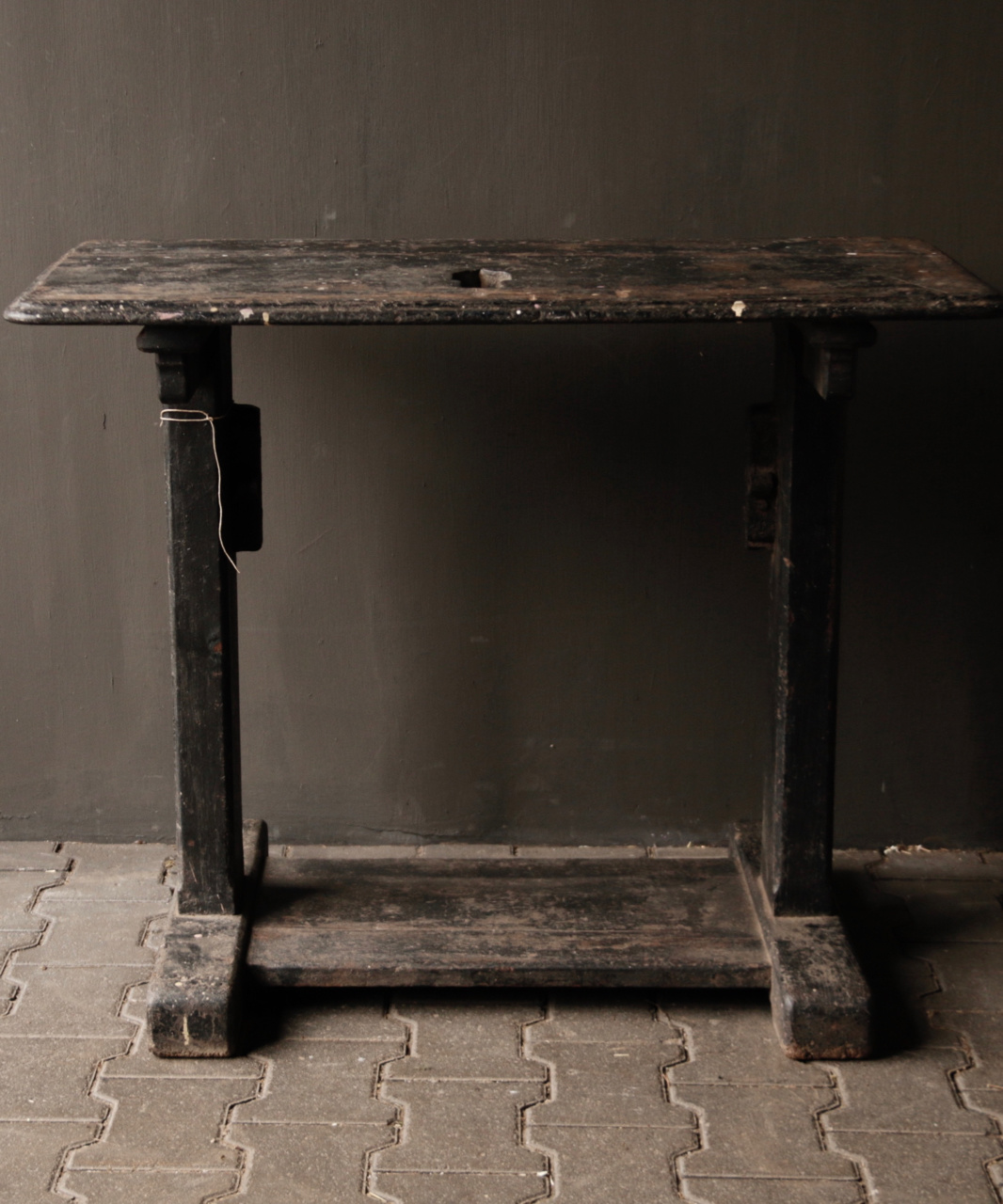 Old Antique Wabi Sabi Wooden weathered Sidetable / Wall table-2