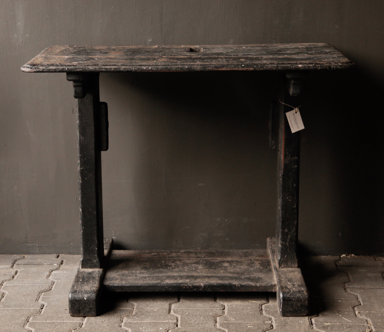 Old Antique Wabi Sabi Wooden weathered Sidetable / Wall table-4