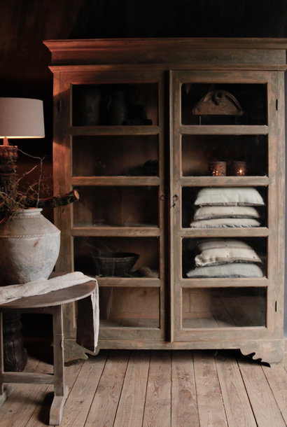 Tough wooden display cabinet