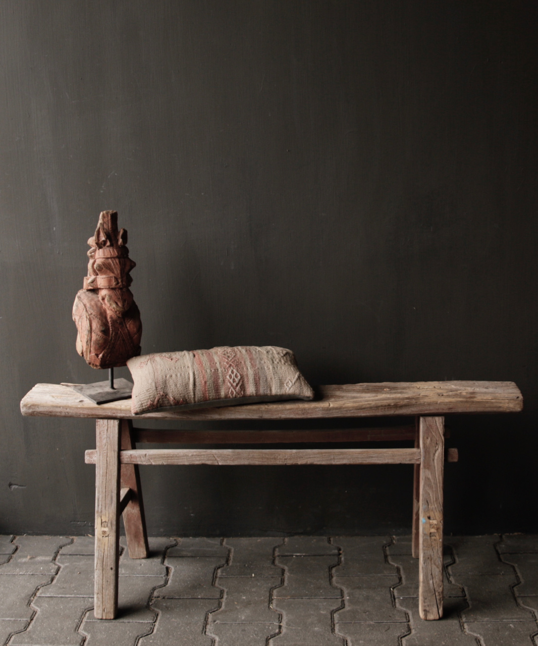 Tough old wooden bench-1