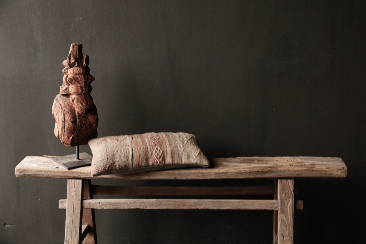 Tough old wooden bench-2