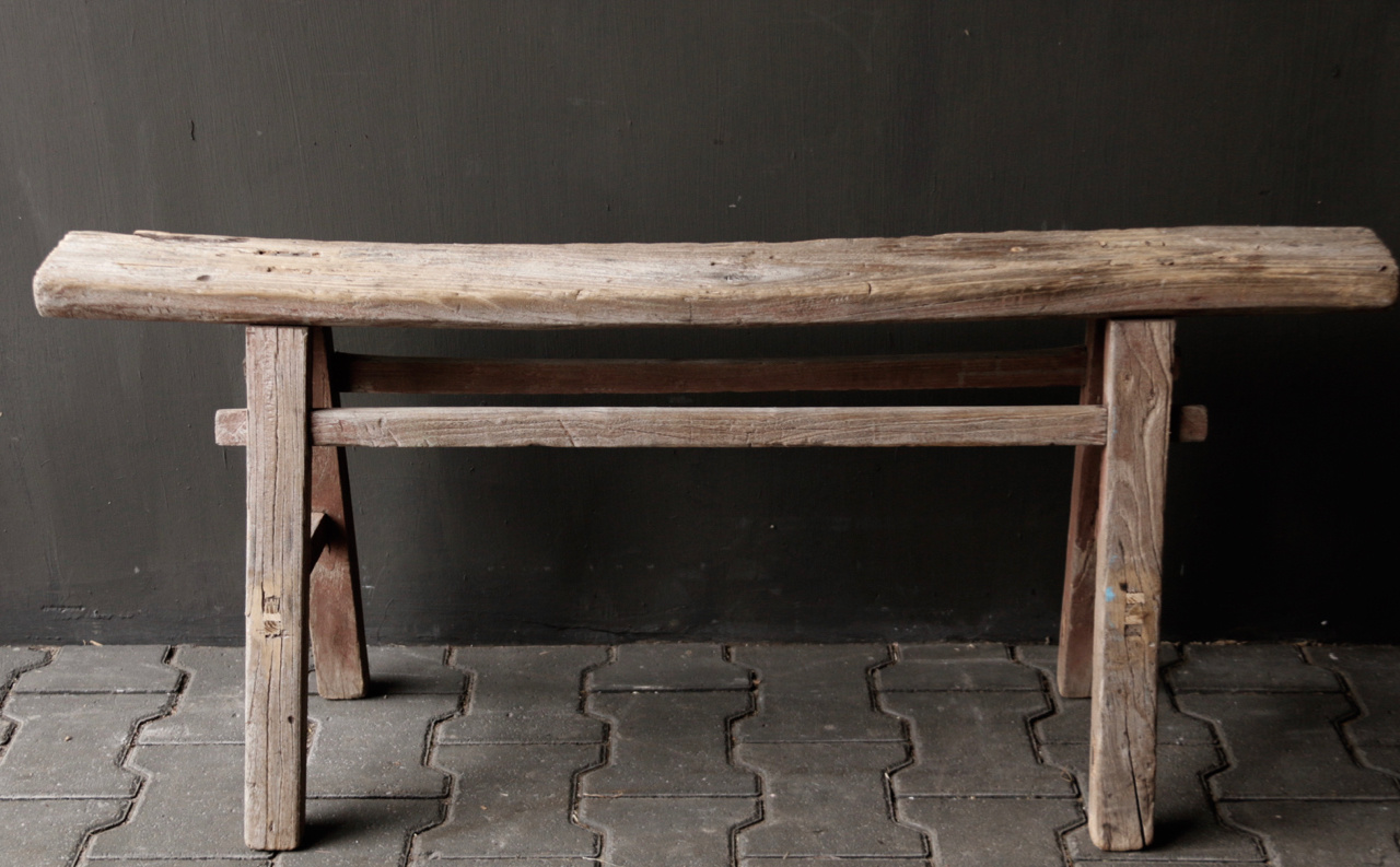 Tough old wooden bench-4