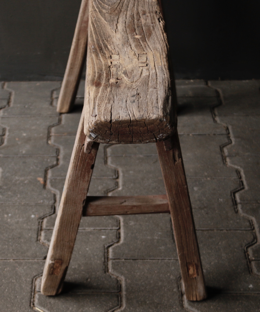 Tough old wooden bench-5