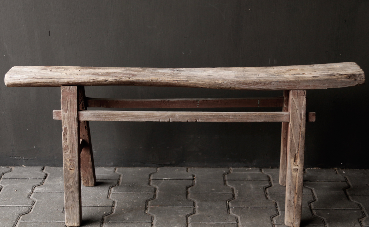 Tough old wooden bench-6