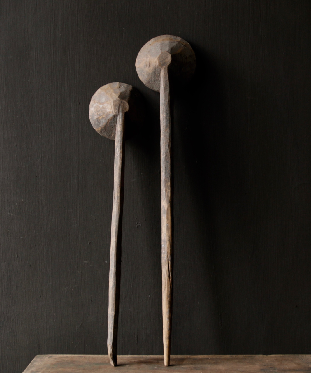 Set of two wooden Nepalese spoons-2