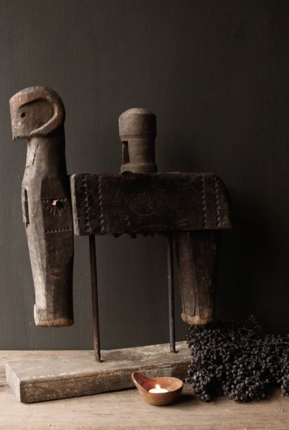 Antiek houten handgemaakte pers uit India XXL