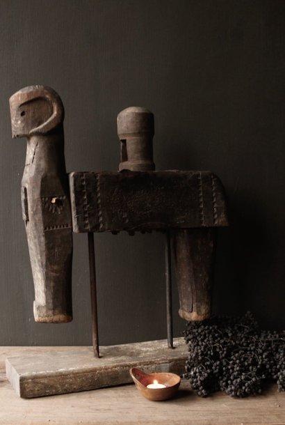 Antike handgefertigte Holzpresse aus Indien XXL
