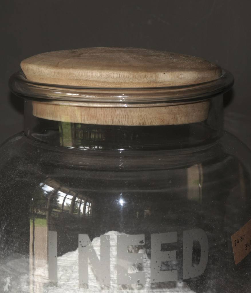 Glas Lagerglas mit Holzstopfen-3