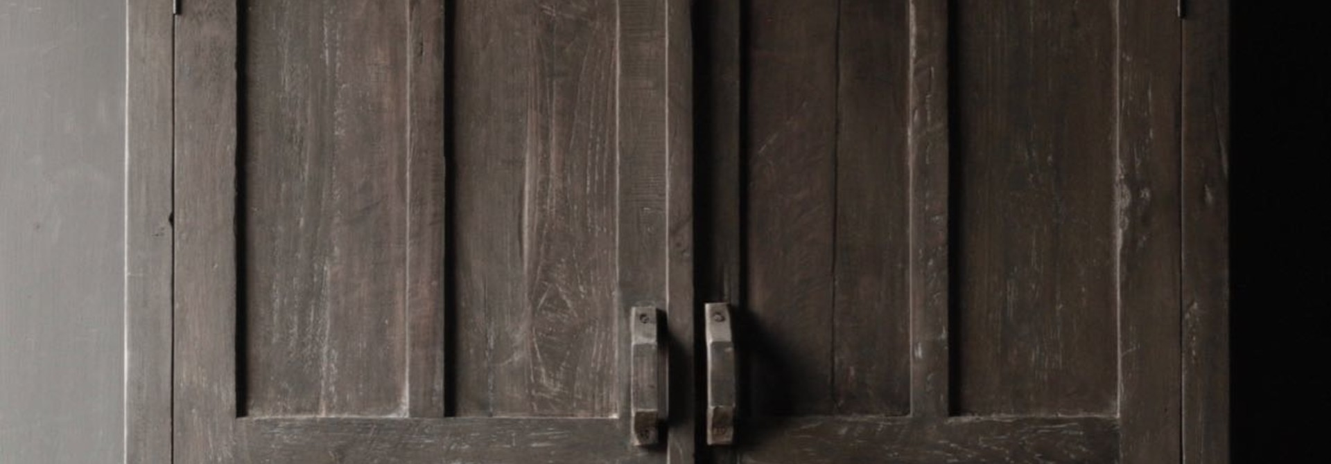 Beautiful solid old wooden cupboard