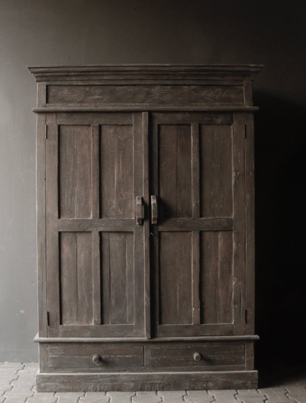 Beautiful solid old wooden cupboard-6