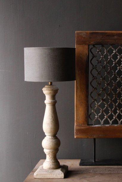 Greige houten lamp voet