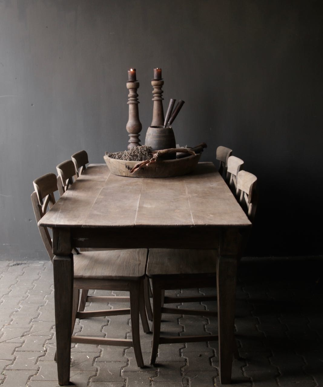 Old Authentic wooden table-1