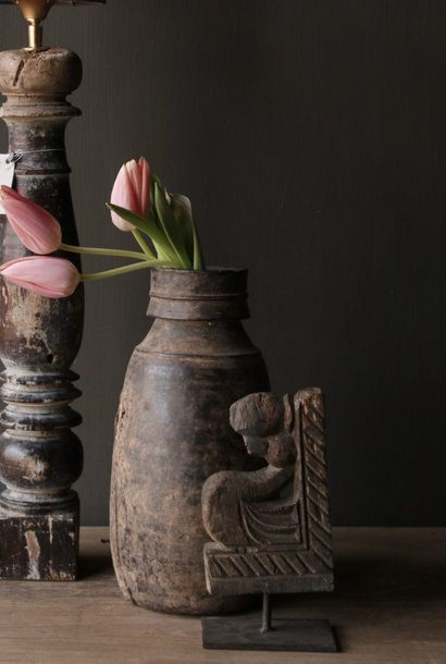 Old wooden Nepalese Jug