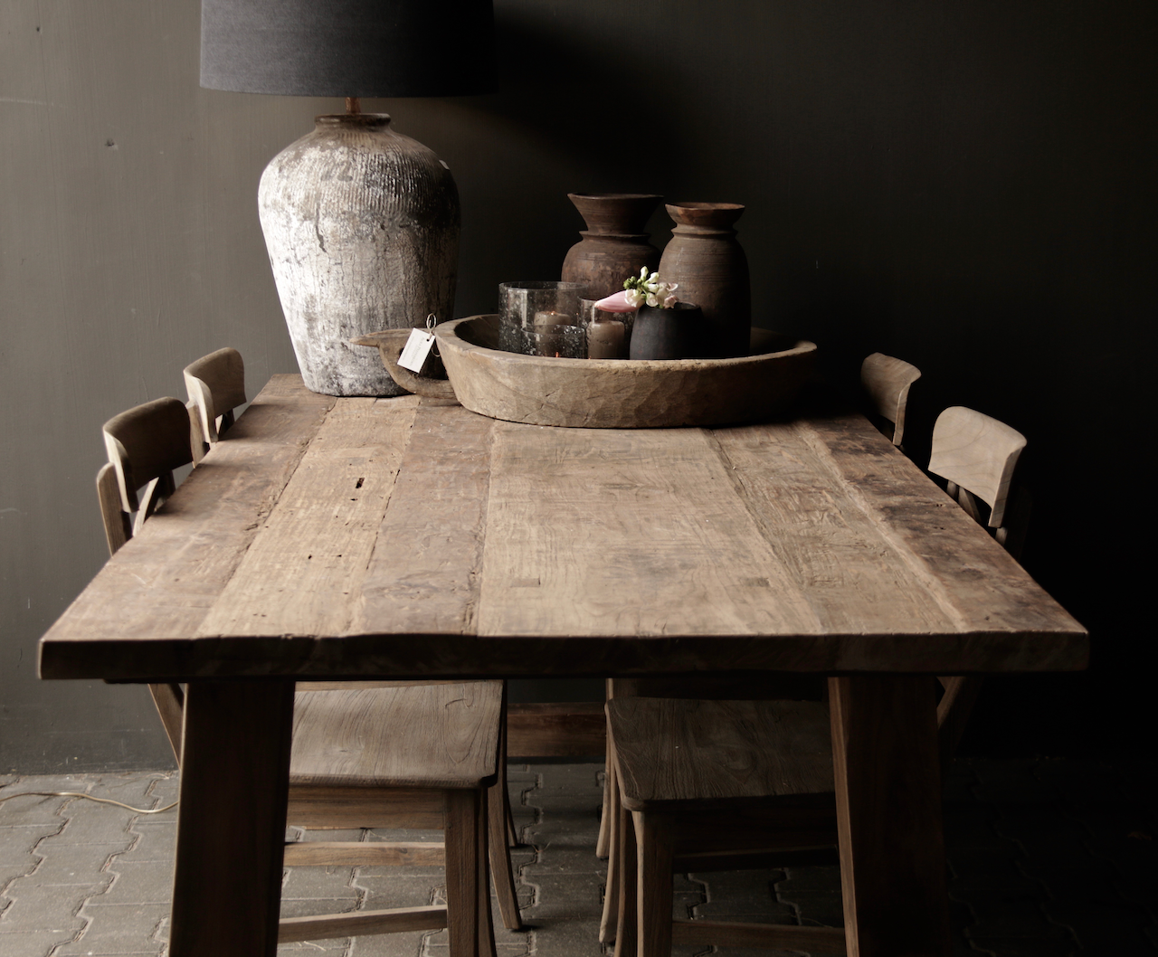 Dining room table old wood A leg-4