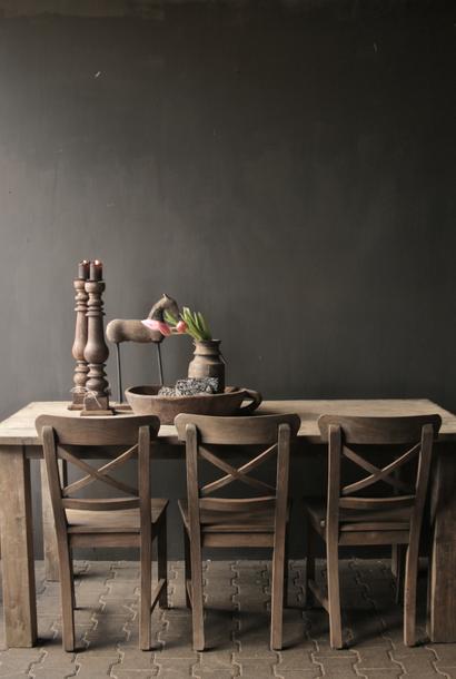 Mooie stoere Boeren  eetkamer tafel oud hout