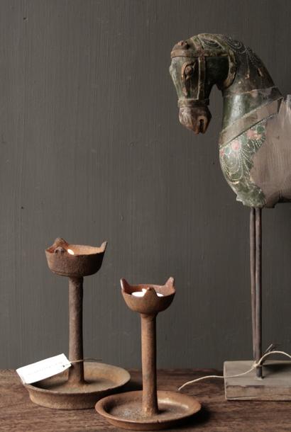 Kerzenhalter aus Eisenschloss