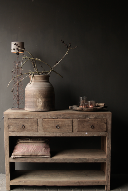 Tough old wooden Console / Sidetable