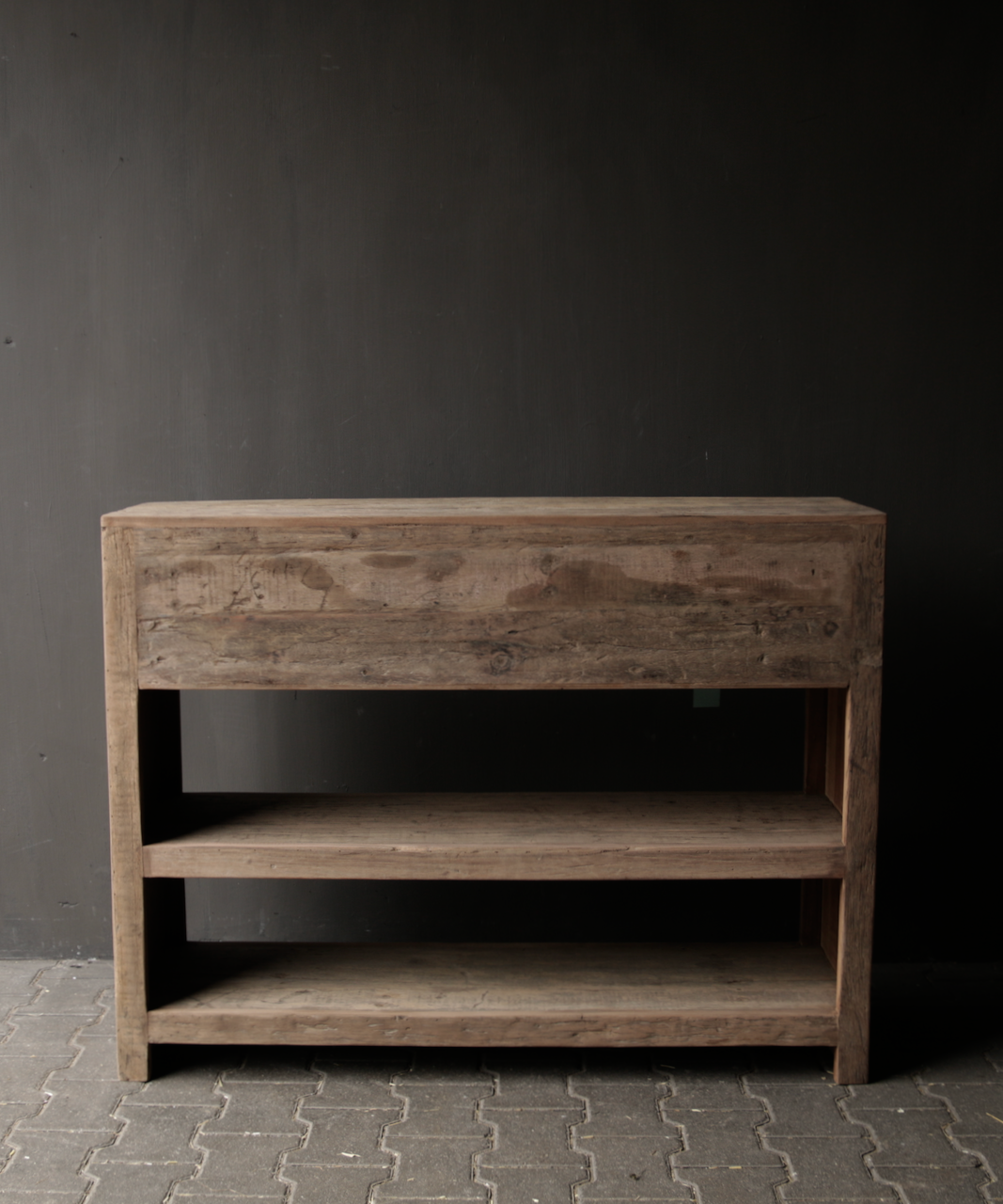 Tough old wooden Console / Sidetable-4