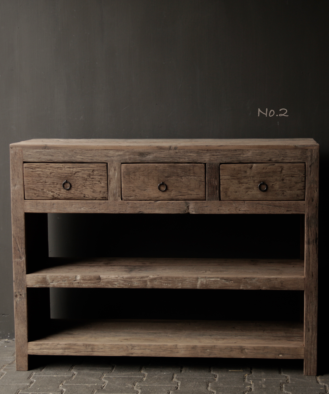 Tough old wooden Console / Sidetable-6