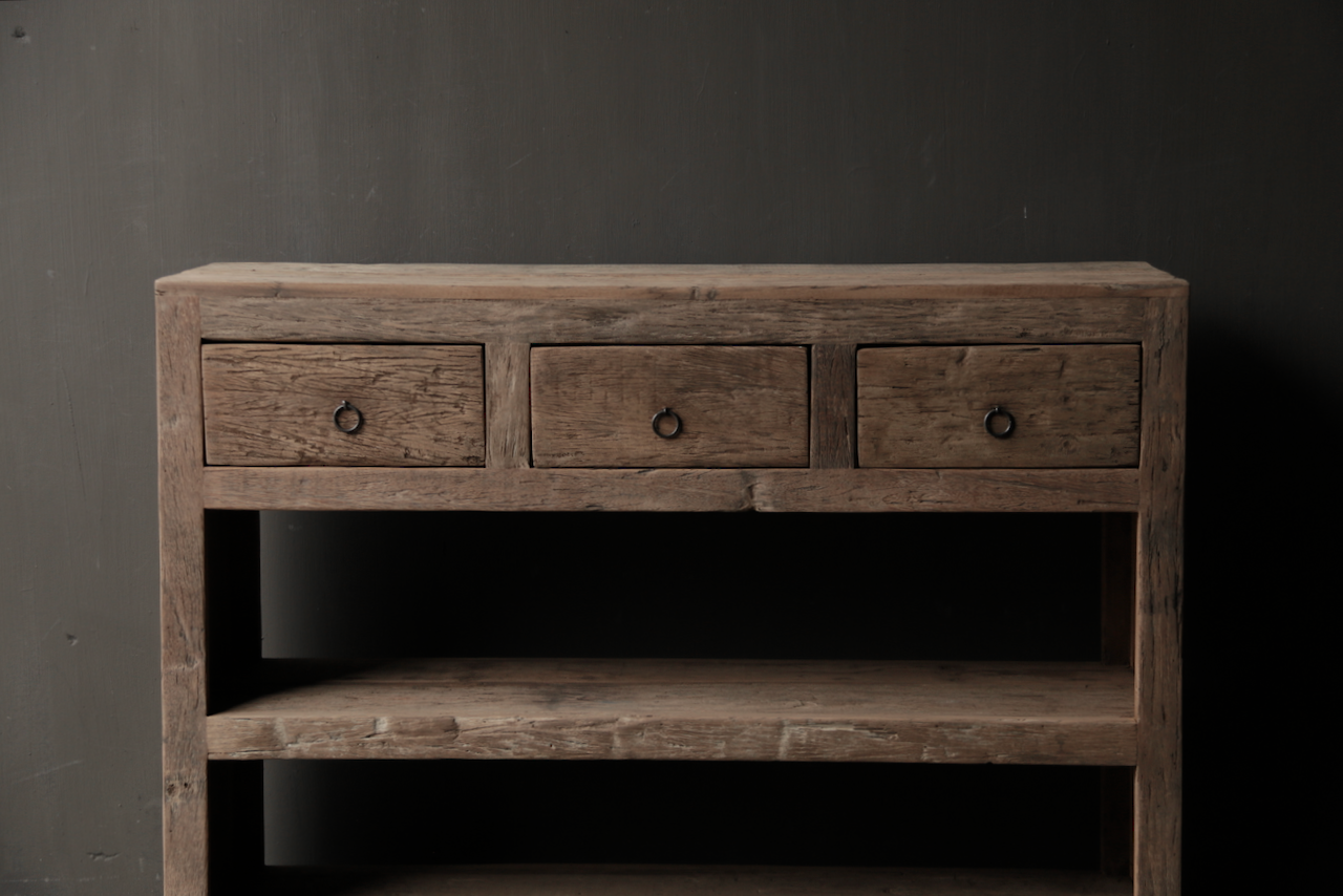 Tough old wooden Console / Sidetable-8