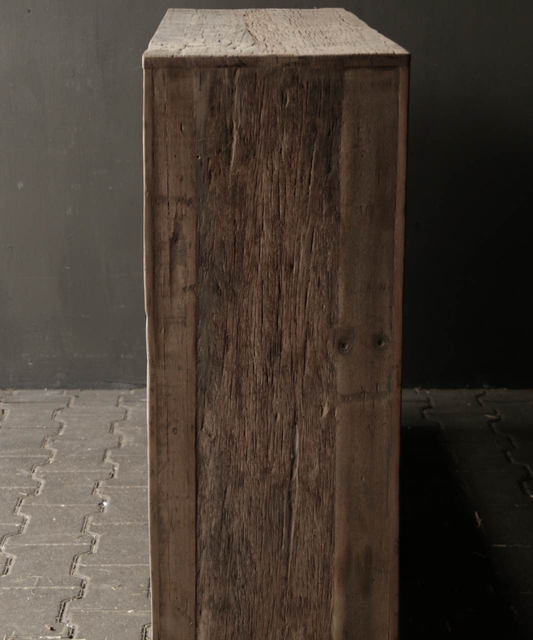 Tough old wooden Console / Sidetable-9