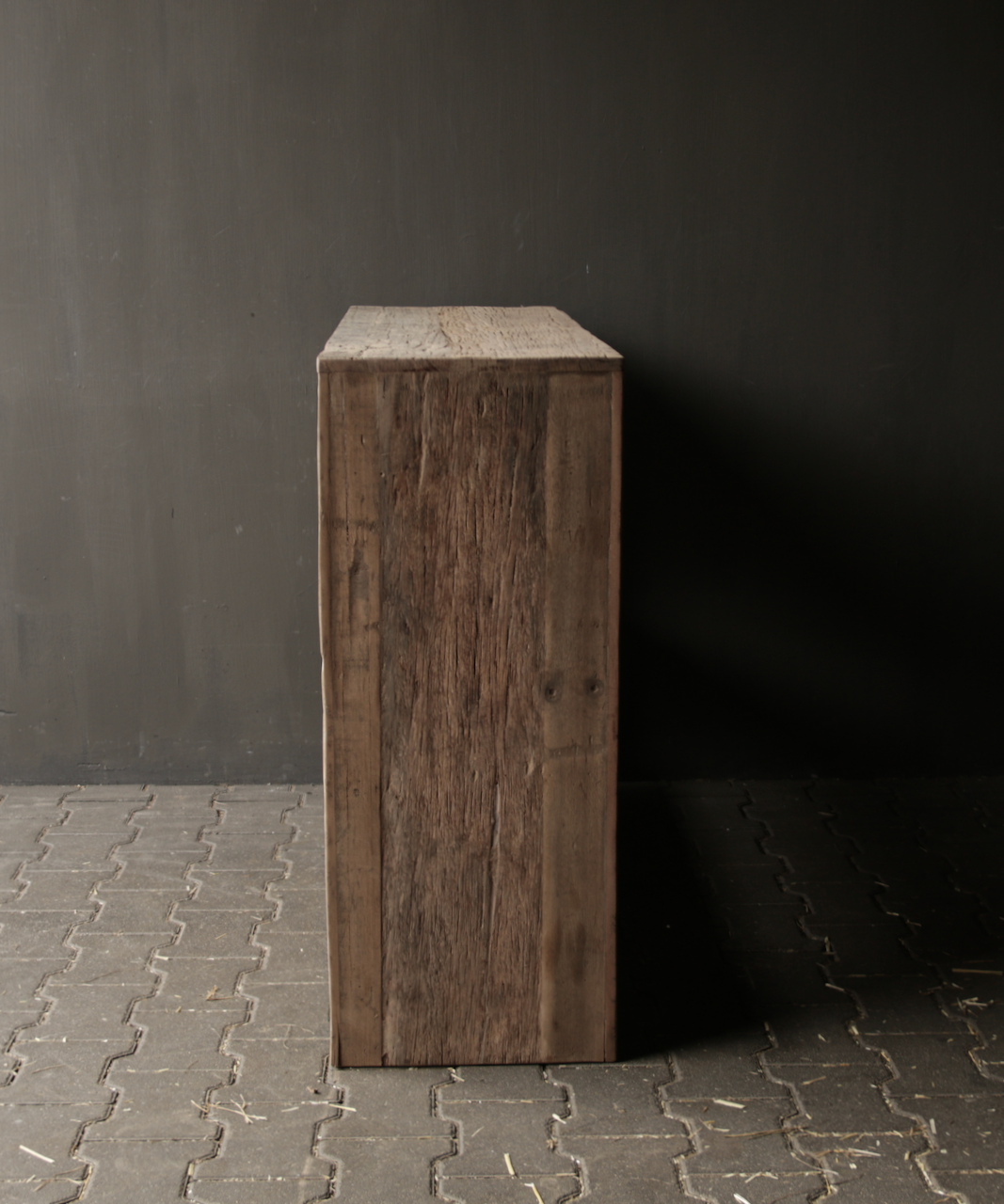 Tough old wooden Console / Sidetable-10