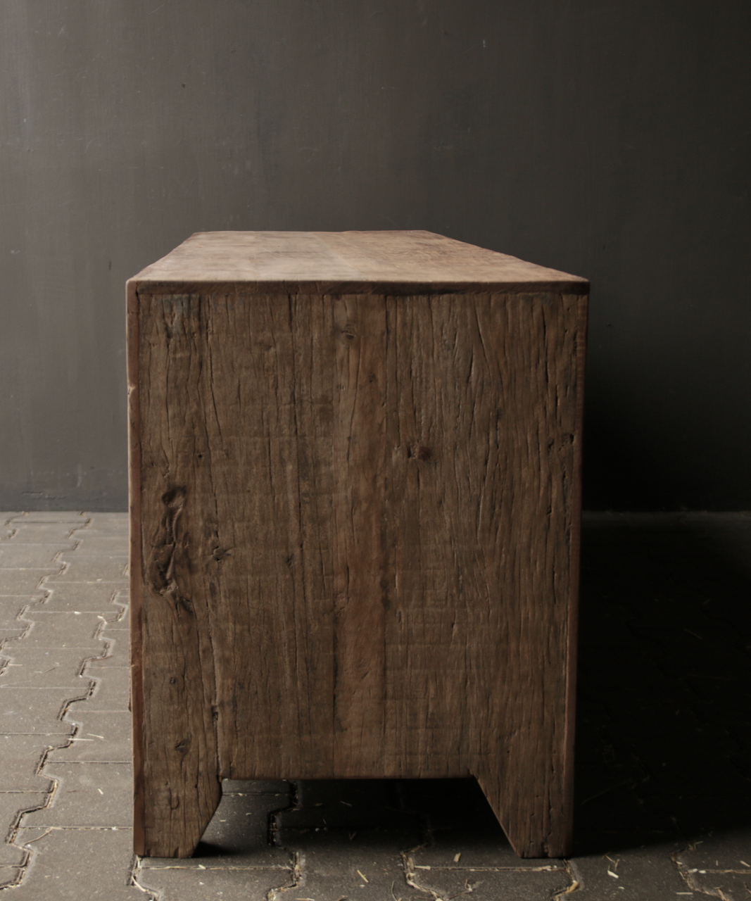 Tough Robust TV Furniture / sideboard of old wood-3