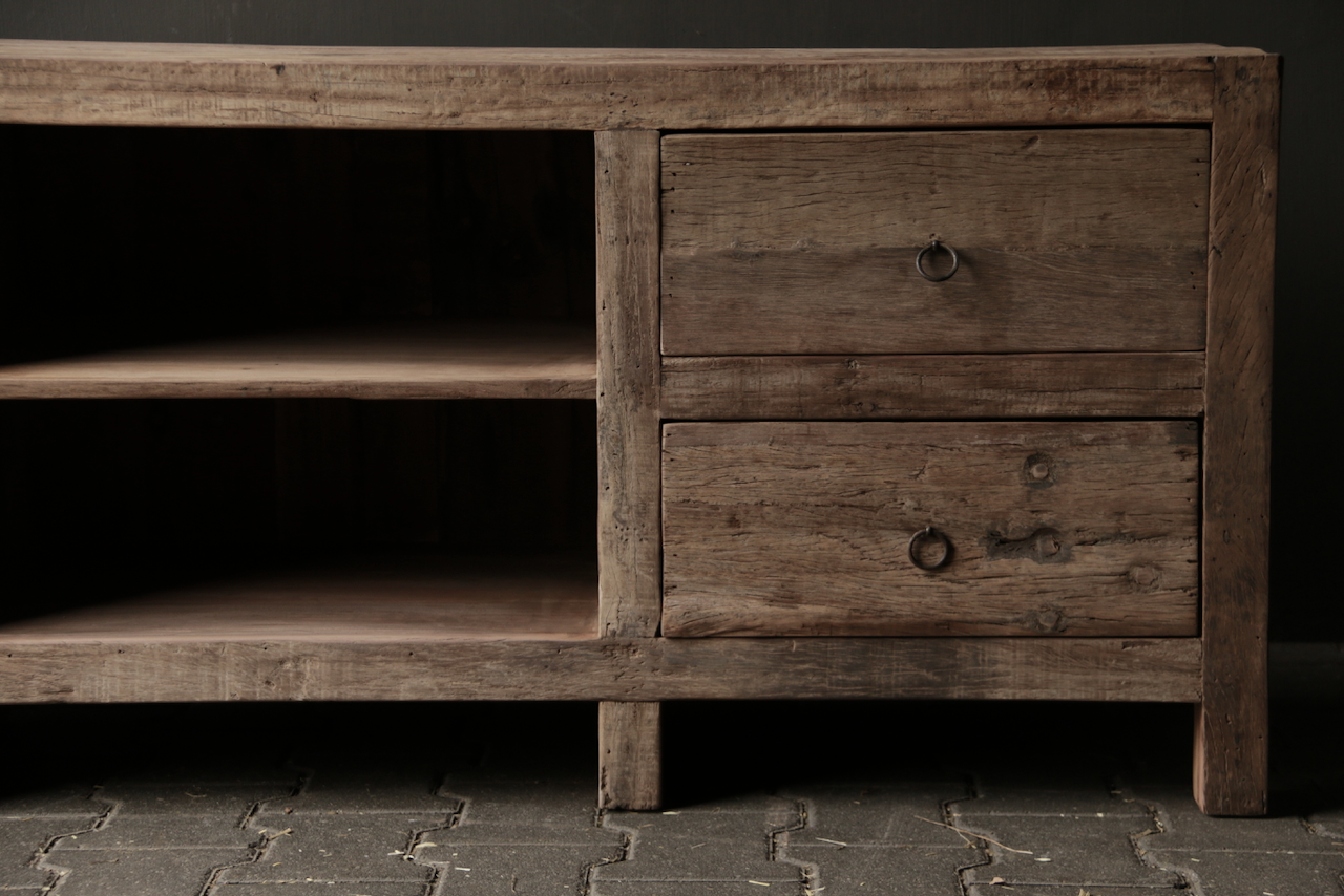 Tough Robust TV Furniture / sideboard of old wood-8