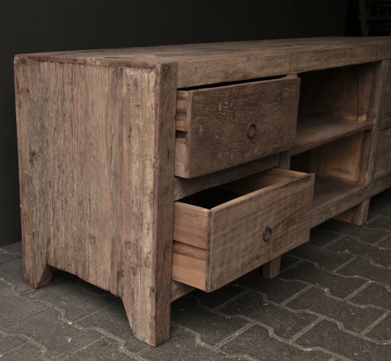 Tough Robust TV Furniture / sideboard of old wood-9
