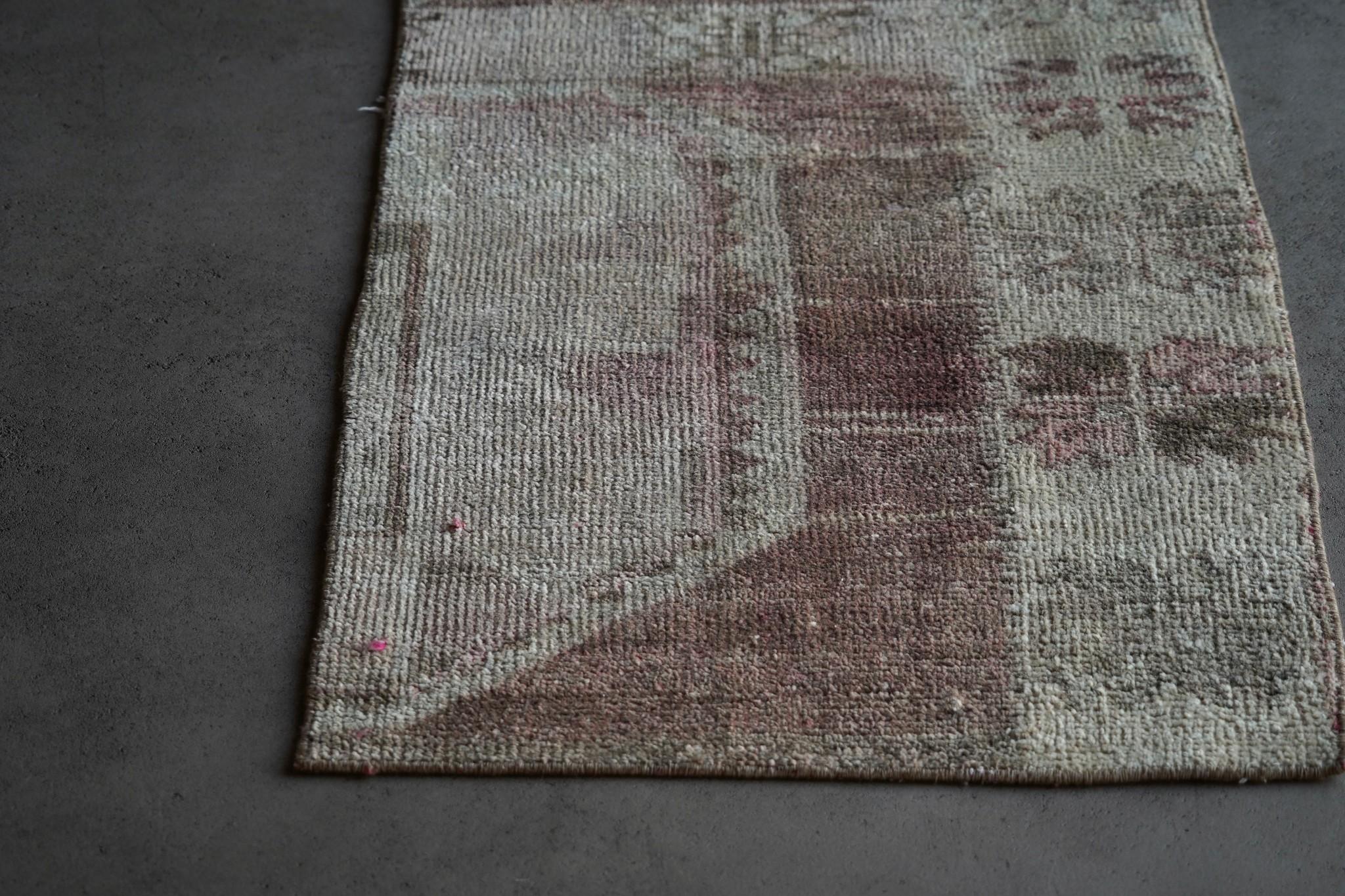 Vintage, handgemachter Woll Kelim Teppich-3