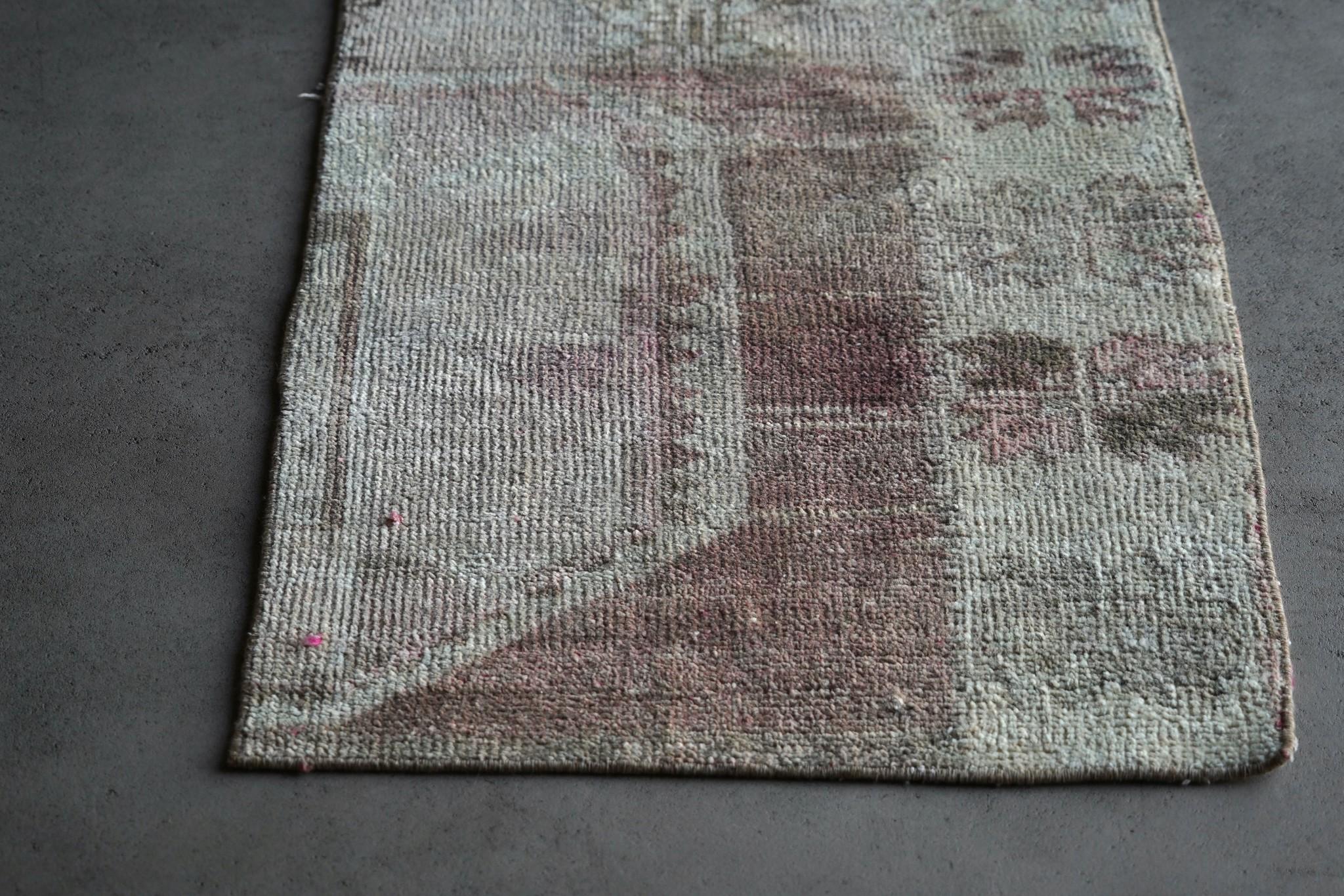 Vintage, handgemachter Woll Kelim Teppich-4