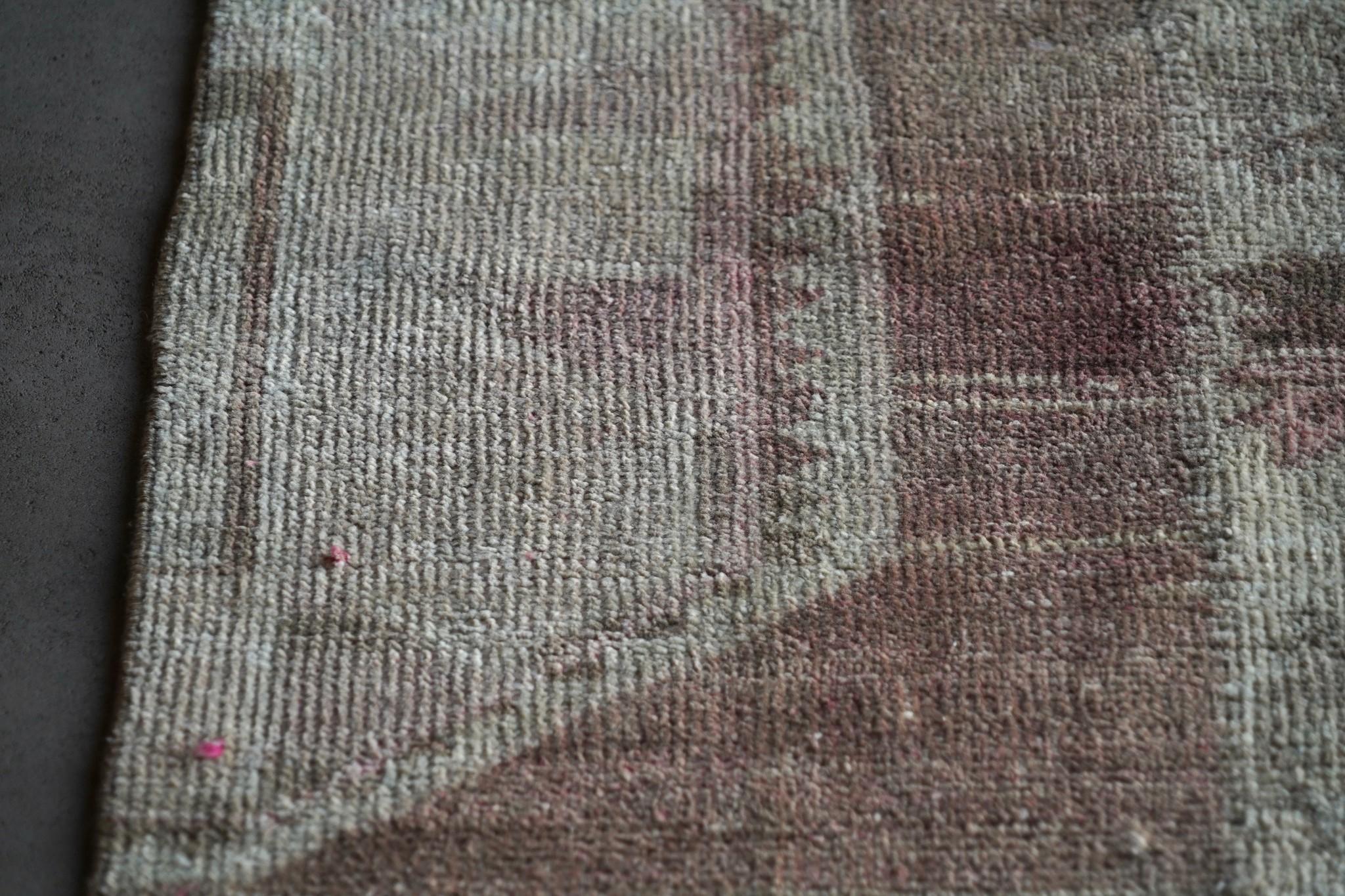 Vintage, handgemachter Woll Kelim Teppich-7