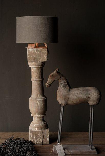 Prachtig Oude Houten lamp voet van Authentieke Baluster