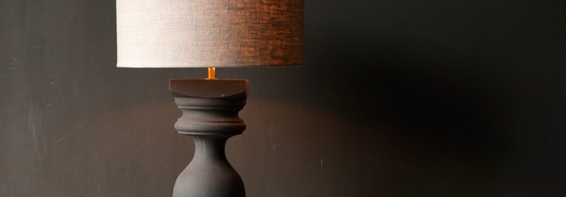 Houten Baluster lamp voet