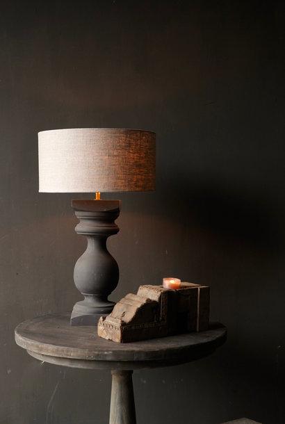 Wooden baluster lamp base