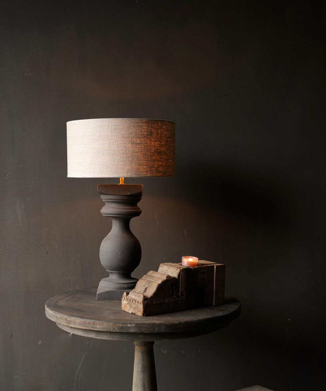 Houten Baluster lamp voet-1