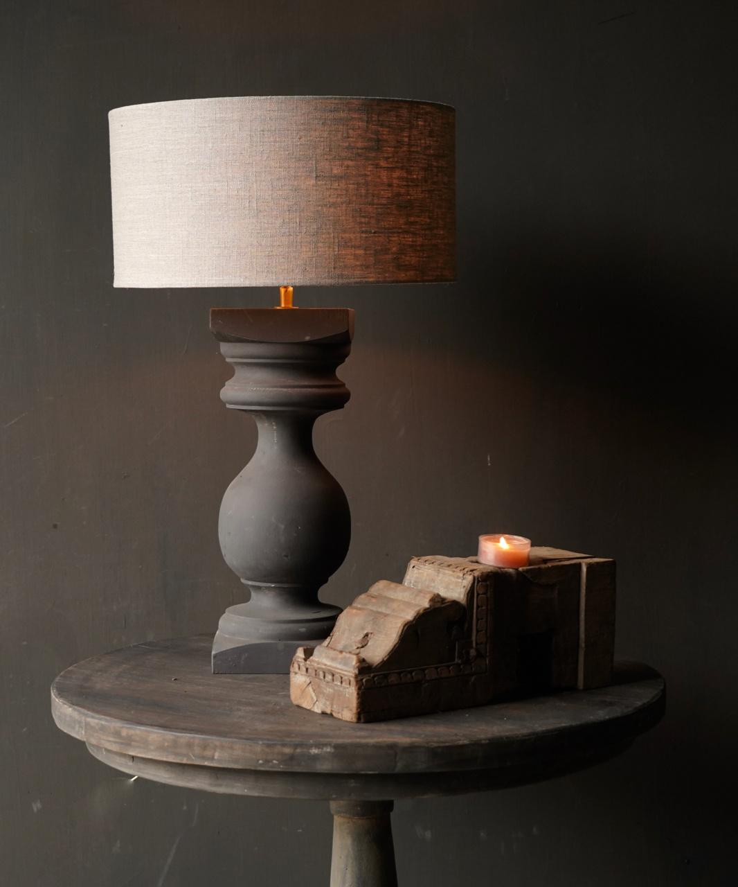 Houten Baluster lamp voet-2
