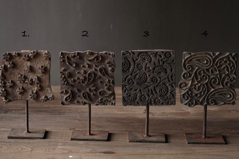 Batikstempel aus Holz auf Eisenbasis-2